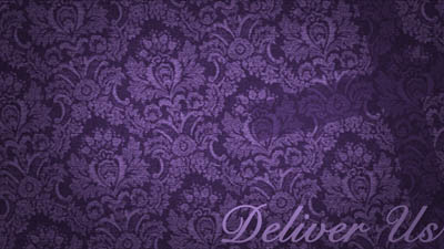 Purple Floral Wallpaper + Cross + Message